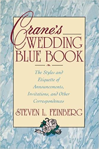 crane s wedding blue book the styles and etiquette of announcements