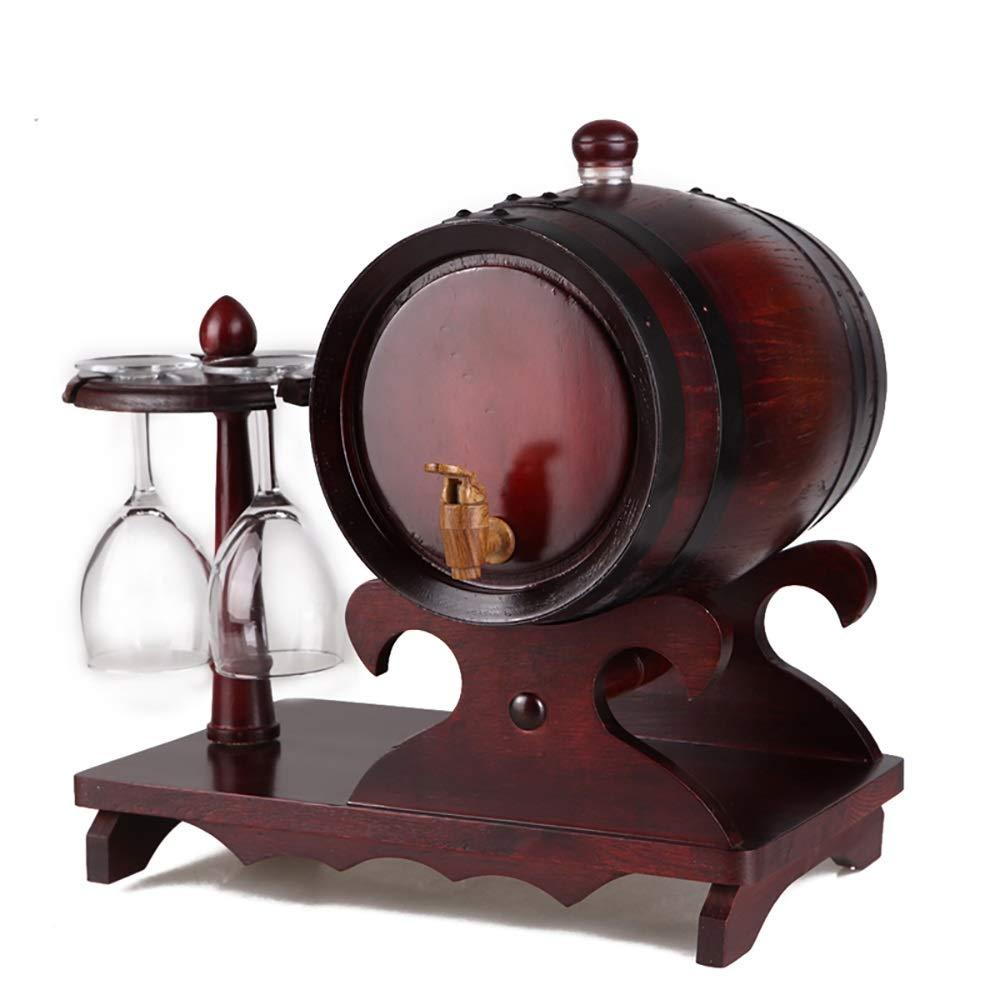 Jiu Si- ワイン樽 - オーク樽ワイン樽ワイン樽カップホルダーワイン樽ワイン樽なし樽オーク樽 - 1.5 L、3 L、5 L ワイン樽 (色 : 1.5Lblack) B07R22Z3Q9 1.5Lblack