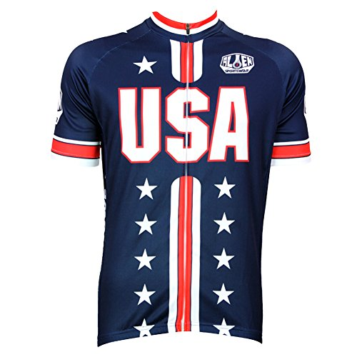 (Alien Sportswear Men Cycling Jersey Bicycle Bike Cycle Short Sleeve Jersey Bike)