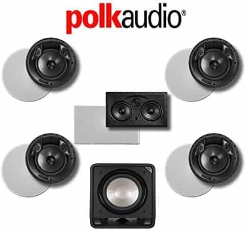 Yamaha RX-V685BL 7.2-Channel 4K Network A//V Receiver Polk Audio CS10 Polk Audio HTS12-3.1-Ch Home Theater Package Polk Audio TSi 500