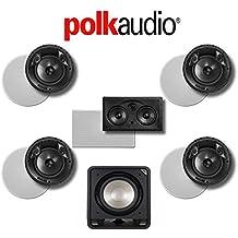 Polk Audio 80 F/X-LS 5.1-Ch Vanishing Series In-Ceiling / In-Wall Home Speaker System (80-F/X-LS + 255C-LS + HTS12)