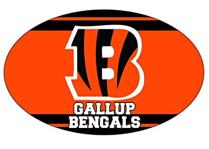 dc439fd7 Amazon.com : Gallup High School Bengals New Mexico Sports Team Oval ...