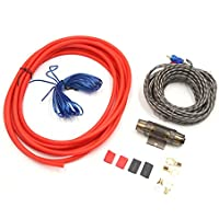 uxcell Speaker Audio Subwoofer 6 Gauge Amplifier Wiring Kit RCA Power Cable for Vehicle