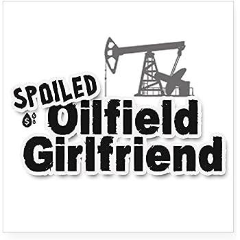 59ddd50d CafePress Spoiled Oilfield Girlfriend Sticker Square Bumper Sticker Car  Decal, 3