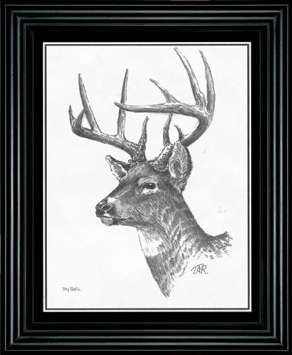 Whitetail Deer Framed Companion Print by Terry Redlin