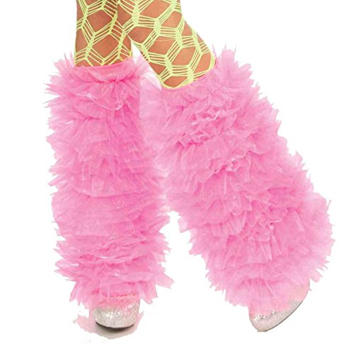 [Forum Novelties Women's Club Candy Novelty Tutu Leg Warmers, Pink, One Size] (Candy Woman Costumes)