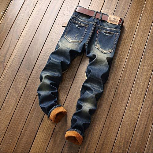 Da Jeans Melodycp Slim Fit dimensione Strappato 33 In Stretch Libero Velluto Uomo Tempo n4EEg6Wcx