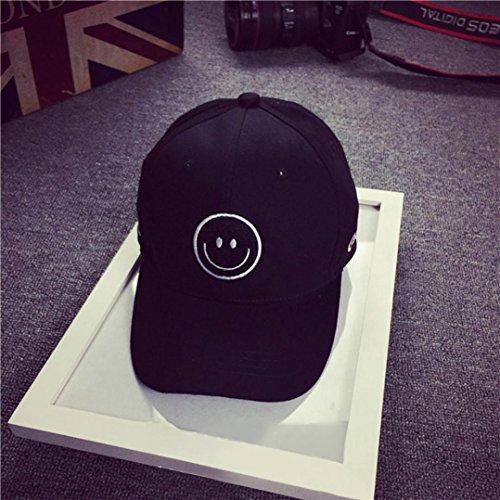 Willtoo Embroidery Cotton Baseball Cap Boys Girls Snapback Hip Hop Flat Hat (Black )