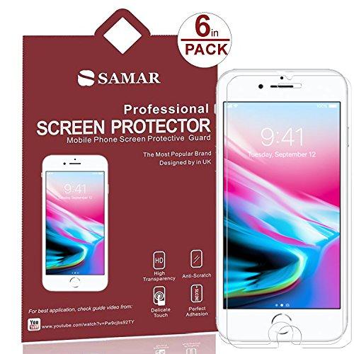 SAMAR – Pellicola Protettiva (Confezione da 6) per Apple iPhone 8 Plus / iPhone 7 Plus, Proteggi Schermo Matte Anti Glare Qualità Premium per iPhone per Proteggi Schermo Ultra Sottile