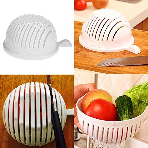 Fruit Cutter - Gadgets 60 Second Salad Cutter Bowl Vegetable Fruits Slicer Chopper Washer And Quick Maker - On Molds Fish Design Letter Balls Tree Fbm Cool Board