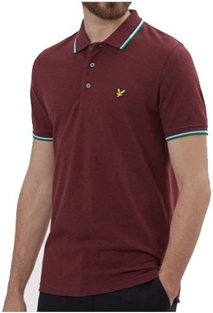 Polo Lyle & Scott Burdeos Rojo Granate: Amazon.es: Ropa y accesorios