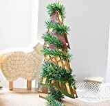 20 Feet Ties Indoor/Outdoor Window Door Ornament Flexible Green Fir Hanging Artificial Vine Garland for Christmas Decor Holidays Wedding