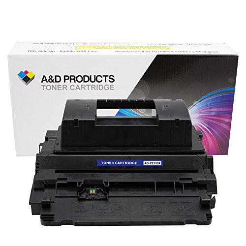 A&D Products Compatible Replacement for HP CE390X Toner Cartridge High Yield HP 90X Black (24,000 Page Yield)