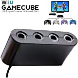 BRHE Gamecube Controller Adapter for Nintendo Switch/Wii U/PC USB, NGC Controller Connection Tap Converter for Wii U Super Smash Bros, Switch, MAC OS PC Windows with 4 Ports No Need Driver