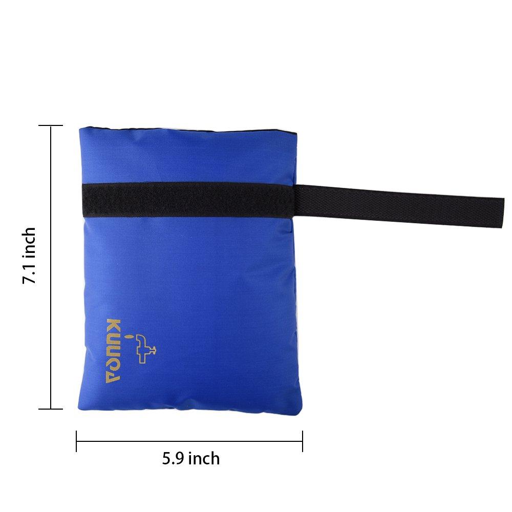 Kuuqa Cubierta de Grifo de Jard/ín Exterior Calcetines para Protecci/ón Contra Congelamiento Azul