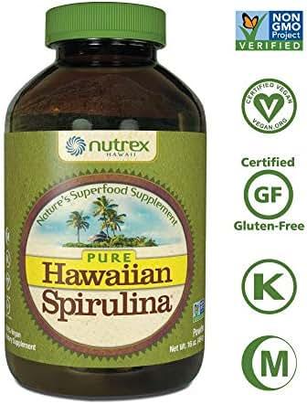 Pure Hawaiian Spirulina Powder 16 oz  - Natural Premium Spirulina from Hawaii - Vegan, Non-GMO, Non-Irradiated - Superfood Supplement & Natural Multivitamin