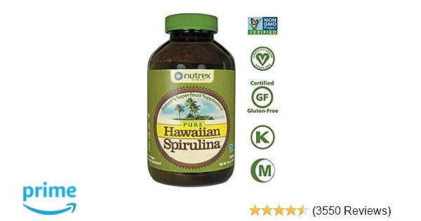 Pure Hawaiian Spirulina Powder 16 oz - Natural Premium Spirulina from  Hawaii - Vegan, Non-GMO,