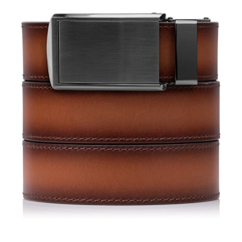 Cognac Full Grain Leather with Gunmetal Buckle (Premium Cognac)