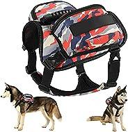 silkasurplus Dog Backpack Harness,Dog Saddle Bag,Backpack for Dogs to Wear Dog Hiking Camping Backpack Gear wi