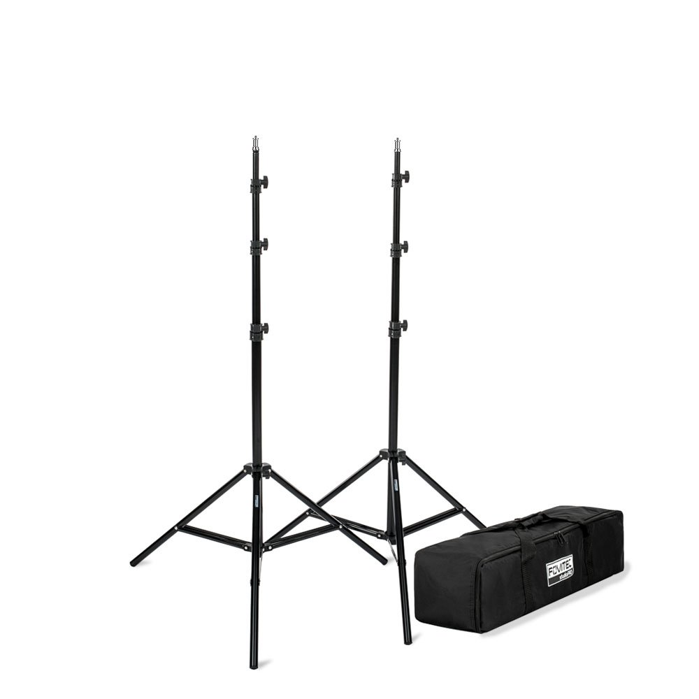 Fovitec - 2x 7'6'' Photography & Video Light Stand Kit - [For Lights, Reflectors, Modifiers][Collapsible][Carrying Bag Included]