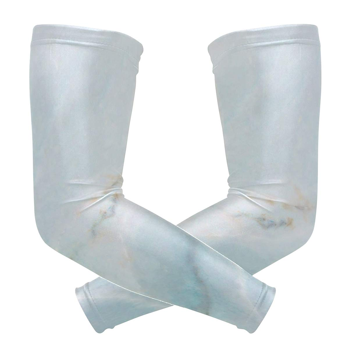 Arm Sleeves Blue And White Porcelain Marble Mens Sun UV Protection Sleeves Arm Warmers Cool Long Set Covers
