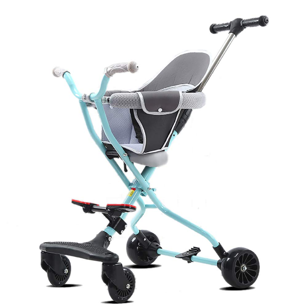 YXGH@ Children's Stroller Portable High Landscape Baby Foldable Four Wheeler Trolley Baby Carriage Rollover Prevention 2-3-5 Years Old Children's Tricycle
