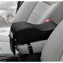 Memory form Car Seat Cushions Armrest Center Consoles Head Neck Rest Waist Back Cushion Pillow Pad for Car Motors Auto Vehicle 4Colors (black)