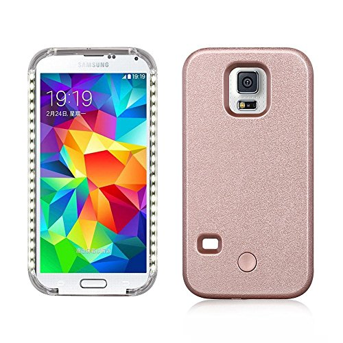 another chance f5553 40b55 Coolmee Led Illuminated Selfie Case for Samsung Galaxy S5, Great for  Selfie& Facetime Video (Galaxy S5 - Rose Gold)