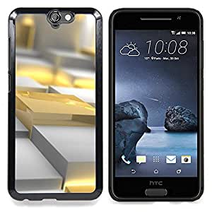 Eason Shop / Premium SLIM PC / Aliminium Casa Carcasa Funda Case Bandera Cover - Polígono 3D Art Plastic Fuego - For HTC One A9