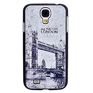 London Bridge Pattern caso duro durable para Samsung i9500 Galaxy S4
