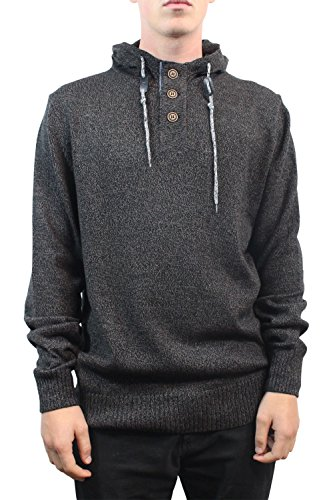 Ocean Current Peppery 3 Button W/ Hood Sweater (Small,Black)