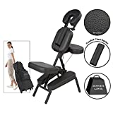Master Massage Apollo XXL Portable Massage Chair Package, Black, Largest Cushions with FREE Wheeled Case!