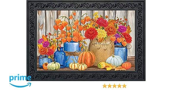 "Fall Mason Jars Floral Garden Flag Primitive Autumn 12.5/"" x 18/"" Briarwood Lane"