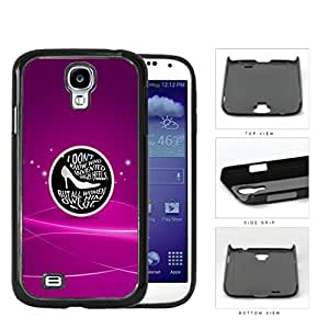 Girly Shoes Quote on Black Center Circle with Magenta Pink Background Samsung Galaxy S4 I9500 Hard Snap on Plastic Cell Phone Case Cover