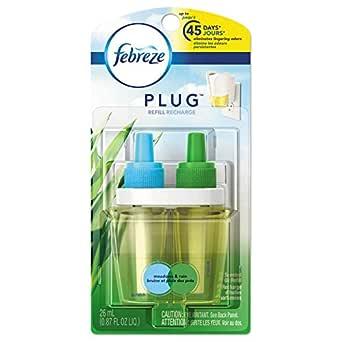 Febreze 45541 PLUG Air Freshener Refills, Meadows & Rain ...