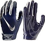 NIKE Mens Vapor Jet 5.0 Football Gloves Game College Navy/Chrome (College Navy/Chrome, Small)