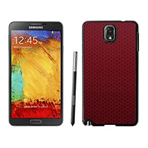 NEW Unique Custom Designed Samsung Galaxy Note 3 N900A N900V N900P N900T Phone Case With Honeycomb Red Pattern_Black Phone Case