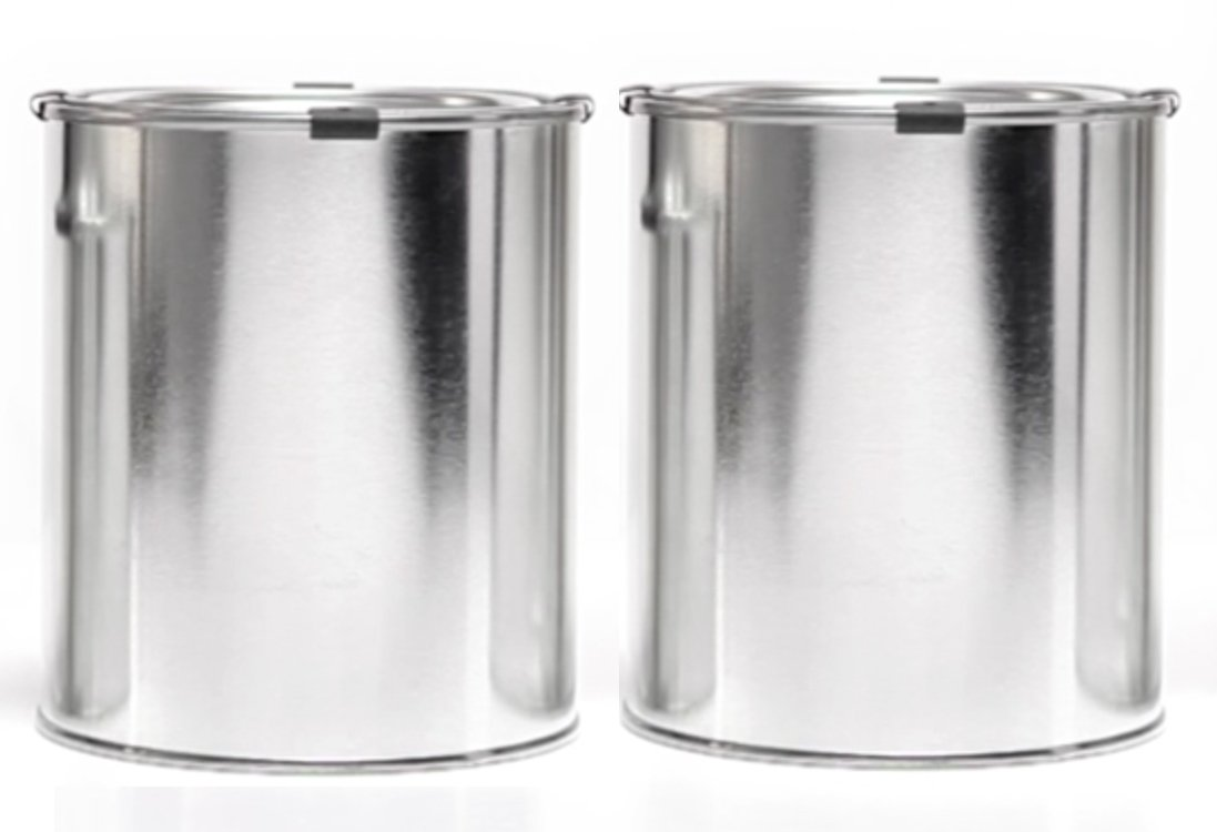 Empty Quart Paint Cans with Lids & Clips (2 Pack) High Quality Empty Paint Storage Cans with tops + Safety clips by DIY