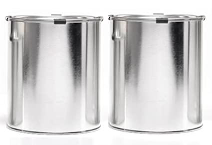 amazon com empty quart paint cans with lids clips 2 pack high