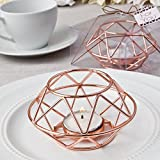 32 Geometric Design Rose Gold Metal Tealight Candle Holders