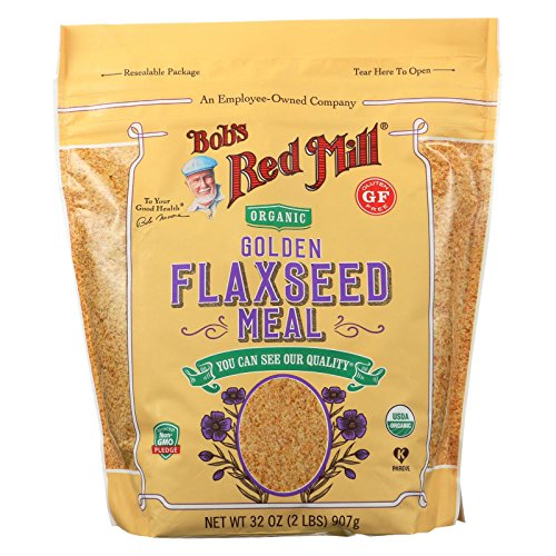 BOB'S RED MILL, Organic Flaxseed Meal, Golden, Pack of 4, Size 32 OZ, (Gluten Free Kosher 95%+ Organic) by Bob's Red Mill