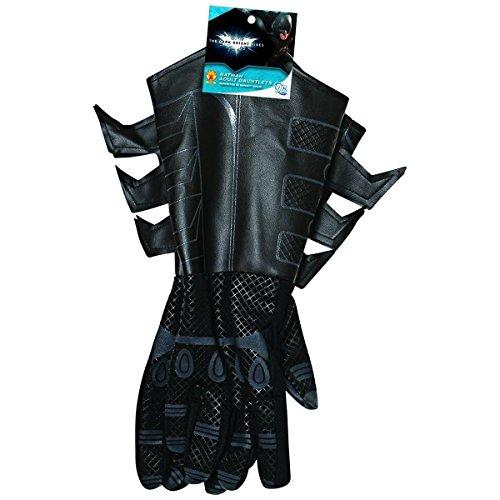 Batman Adult Gloves (Batman Classic Black Adult Size Gauntlets Costume Gloves)