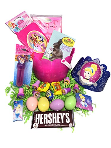 Cinderella Easter Basket Bundle with Cinderella Toys, Candy, and Easter Eggs -