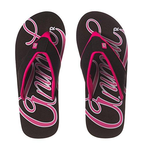 Dyre Kvinners / Damer Swish Logo Flip-flops Svart