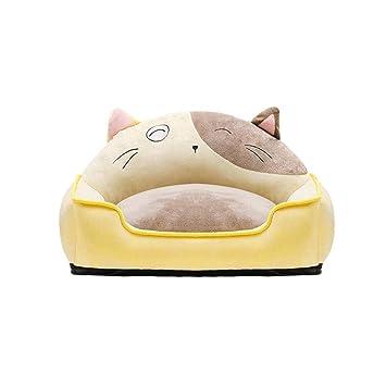 YQQ Cama De Mascotas para Gatos Perros Pequeños, Suave Comfy Lavable Cama del Perro del