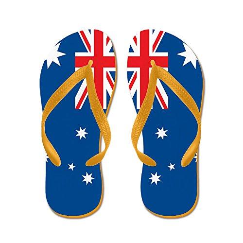 Cafepress Australia Flag - Infradito, Sandali Infradito Divertenti, Sandali Da Spiaggia Arancione