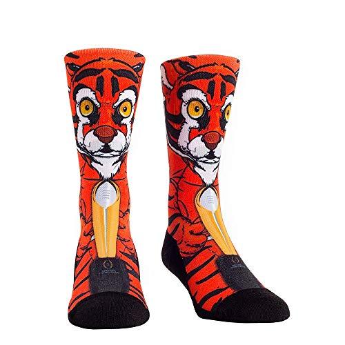 ollege Fan Socks (L/XL, Clemson Tigers - 2018 National Champions Mascot) ()