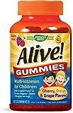 Nature's Way Alive! Children's Premium Gummy Multivitamin, Fruit and Veggie Blend (150mg per Serving), Gluten Free, Made…