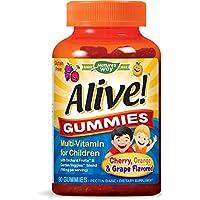 Nature's Way Alive! Children's Premium Gummy Multivitamin, Fruit and Veggie Blend...