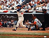 Maury Wills Autographed LA Dodgers 16x20 Swinging Photo- JSA W Auth